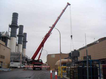 REMOVING 40,000 LB. 2450 HP TECO WESTINGHOUSE CIRCULATING WATER PUMP MOTOR