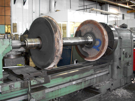 LOCOMOTIVE WHEELS RE-MACHINING  PROFILE - Before